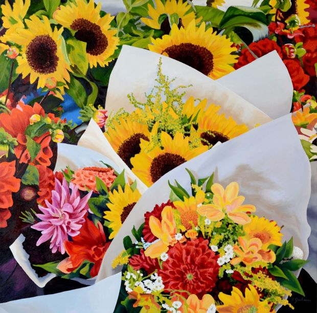 NYC Bouquets 3 oil on canvas 60 x 60 6250 cr.jpg